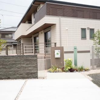 2世帯住宅を彩る和モダンのお庭